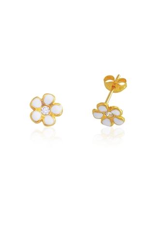 Σκουλαρίκια Λευκό Λουλούδι