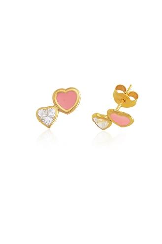 Σκουλαρίκια Διπλή Καρδιά