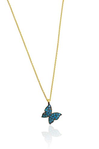 Κολιέ Μπλε Πεταλούδα