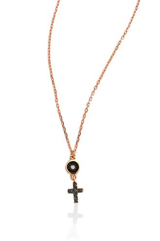 Κολιέ Little Black Cross