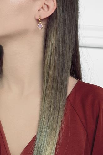 Σκουλαρίκια Pink Stone