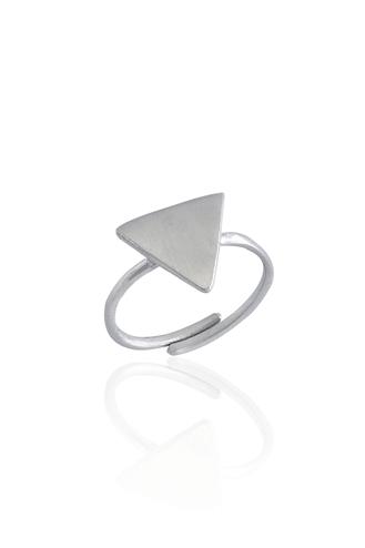 Δαχτυλίδι Χειροποίητο Triangle White