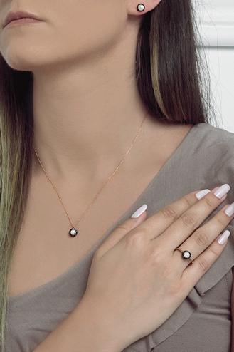 Κολιέ Pearl Black Dots