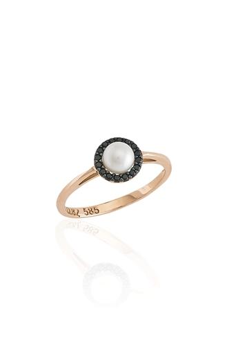 Δαχτυλίδι Pearl Black Dots
