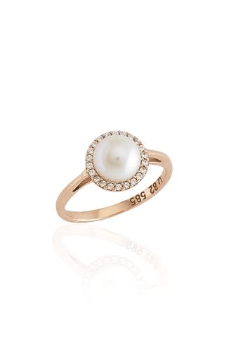 Δαχτυλίδι Pearl Rose Gold Dots