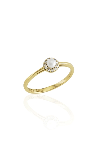 Δαχτυλίδι Pearl Gold Dots