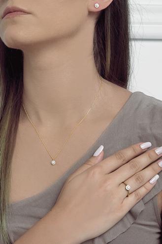 Σκουλαρίκια Pearl Gold Dots