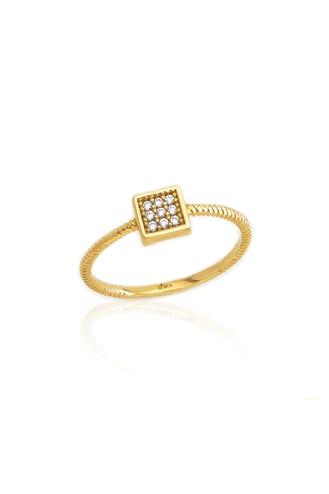 Δαχτυλίδι Gold Square