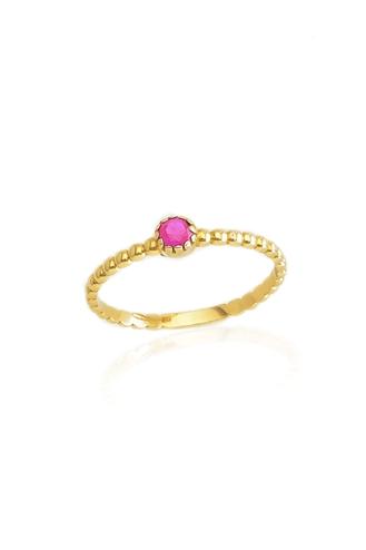 Δαχτυλίδι Bubbles Pink Stone