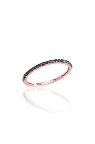 Δαχτυλίδι Μισόβερο Μαύρο