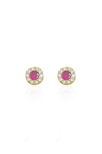 Σκουλαρίκια Ροζέτα Pink