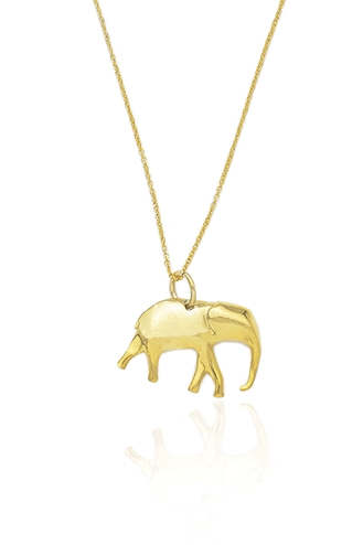 Κολιέ Gold Elephant