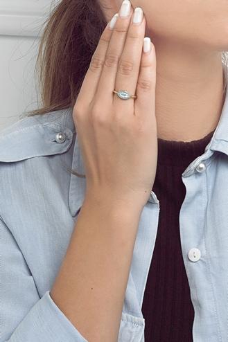 Δαχτυλίδι Μάτι Τιρκουάζ