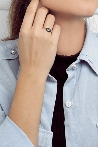 Δαχτυλίδι Μάτι Μαύρο