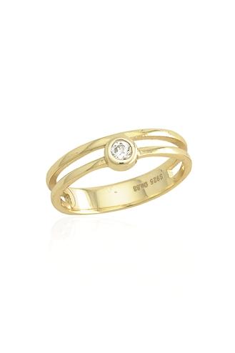 Δαχτυλίδι Μονόπετρο Διπλό Y