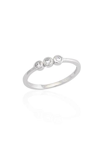 Δαχτυλίδι Τριπλή Πέτρα