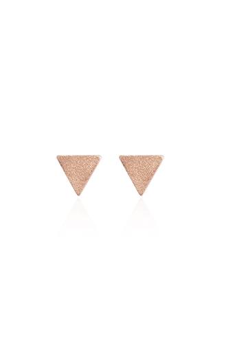 Σκουλαρίκια Τρίγωνο Ροζ