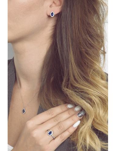 Δαχτυλίδι Ροζέτα Oval Sapphire