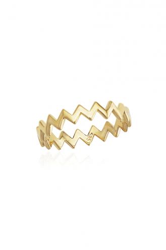 Δαχτυλίδι Χρυσό Wavy