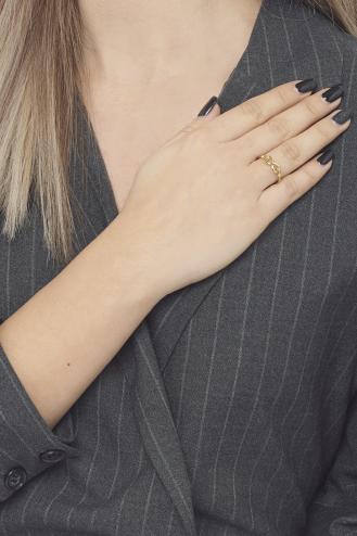 Δαχτυλίδι Χρυσό Δεμένο Άπειρο