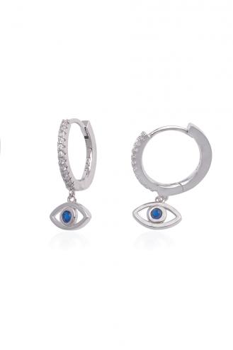 Σκουλαρίκια Κρίκοι Μάτι Μπλε