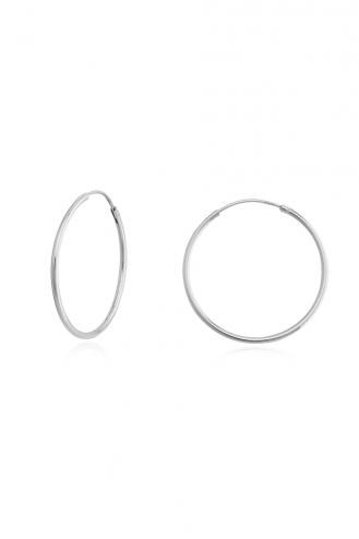 Earrings Hoops White 3cm