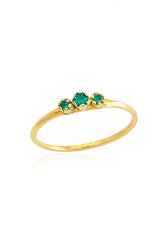 Δαχτυλίδι Χρυσό Green Dots