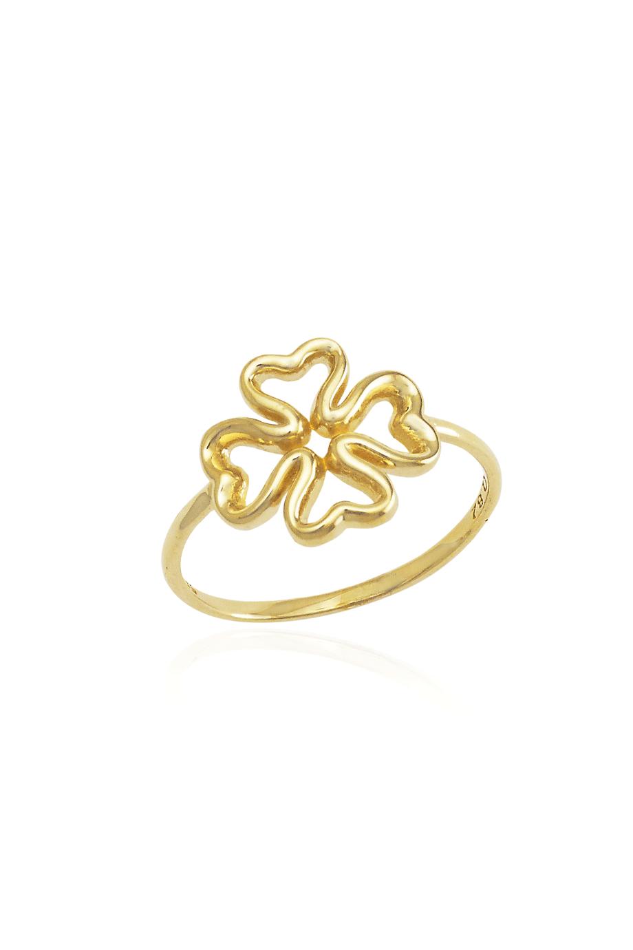 Δαχτυλίδι Χρυσό Λουλούδι