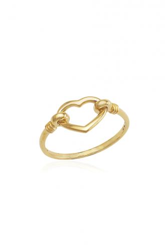 Δαχτυλίδι Χρυσό Δεμένη Καρδιά