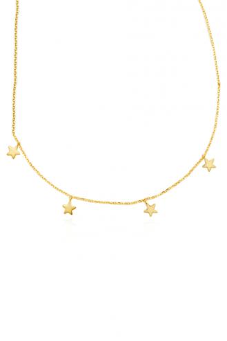 Κολιέ Χρυσό Star Drops