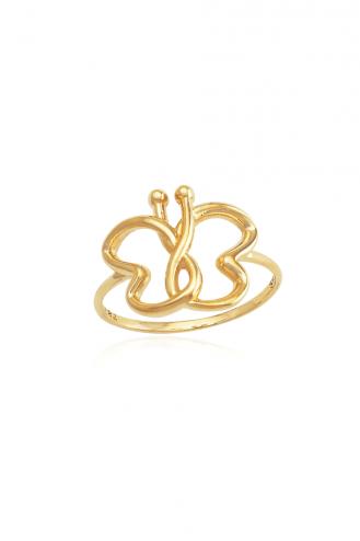 Δαχτυλίδι Χρυσό Πεταλούδα