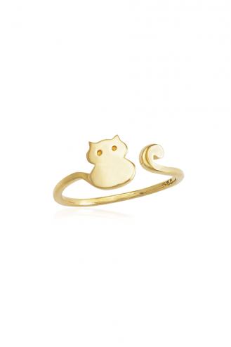 Δαχτυλίδι Χρυσό Cat
