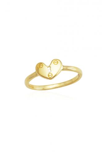 Δαχτυλίδι Χρυσό Lock My Heart