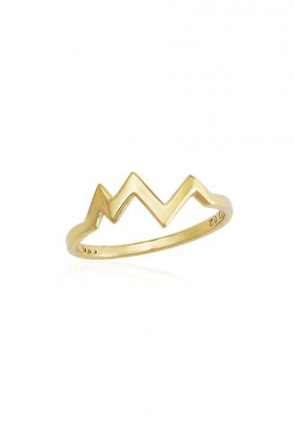 Δαχτυλίδι Χρυσό Waves