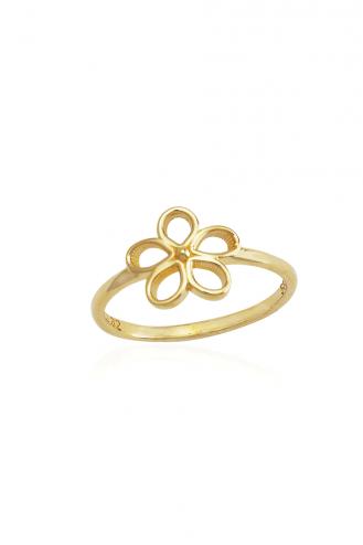 Δαχτυλίδι Χρυσό Μαργαρίτα