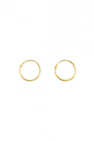 Σκουλαρίκι Κρίκος Χρυσό