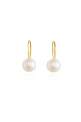 Σκουλαρίκια Χρυσά Pearls