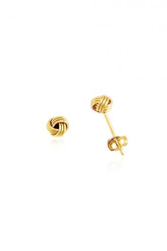 Σκουλαρίκια Χρυσά Πλεξούδα