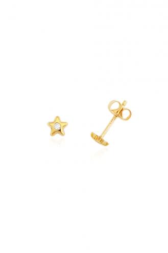 Σκουλαρίκια Χρυσά Αστεράκια