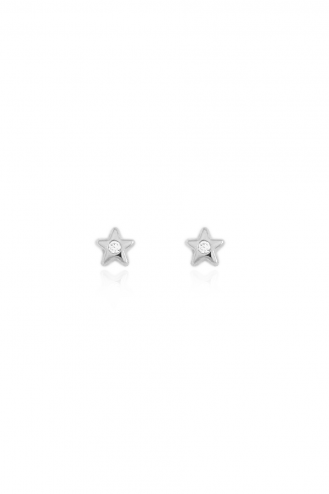 Σκουλαρίκια Λευκά Αστεράκια