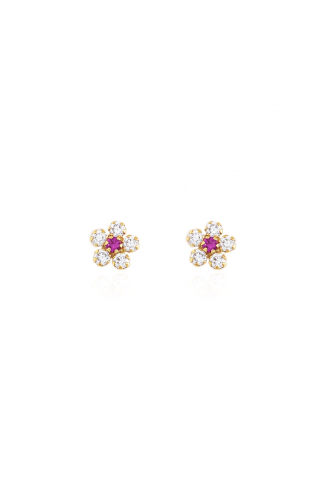 Earrings Pink Flowers