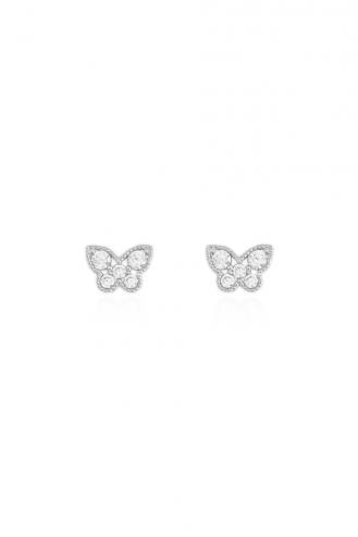 Earrings Butterflies Stones