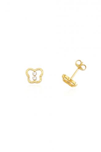 Σκουλαρίκια Χρυσά Πεταλούδες