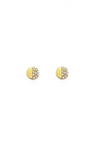 Σκουλαρίκια Χρυσό Half Dot