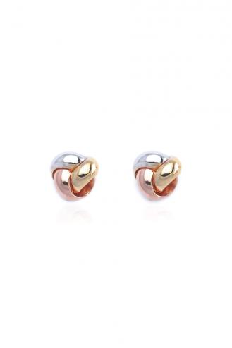 Σκουλαρίκια Πλεξούδα Τρίχρωμη