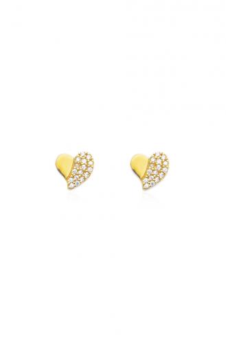 Σκουλαρίκια Half Heart
