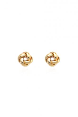Σκουλαρίκια Χρυσή Πλεξούδα