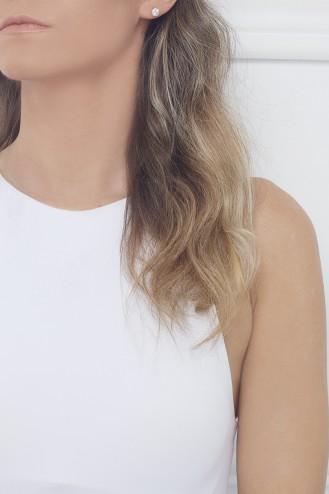 Σκουλαρίκια Λευκό Dot Chic