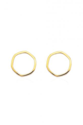 Σκουλαρίκια Χρυσά Hexagon