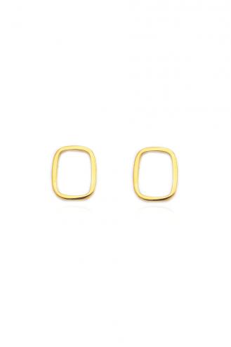 Σκουλαρίκια Χρυσά Ορθογώνιο